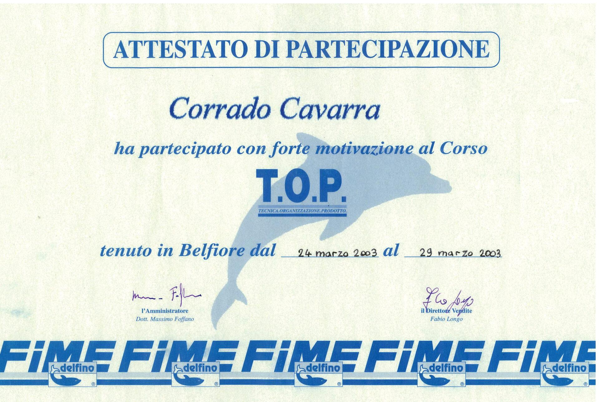 Attestati e riconoscimenti Corrado Cavarra2