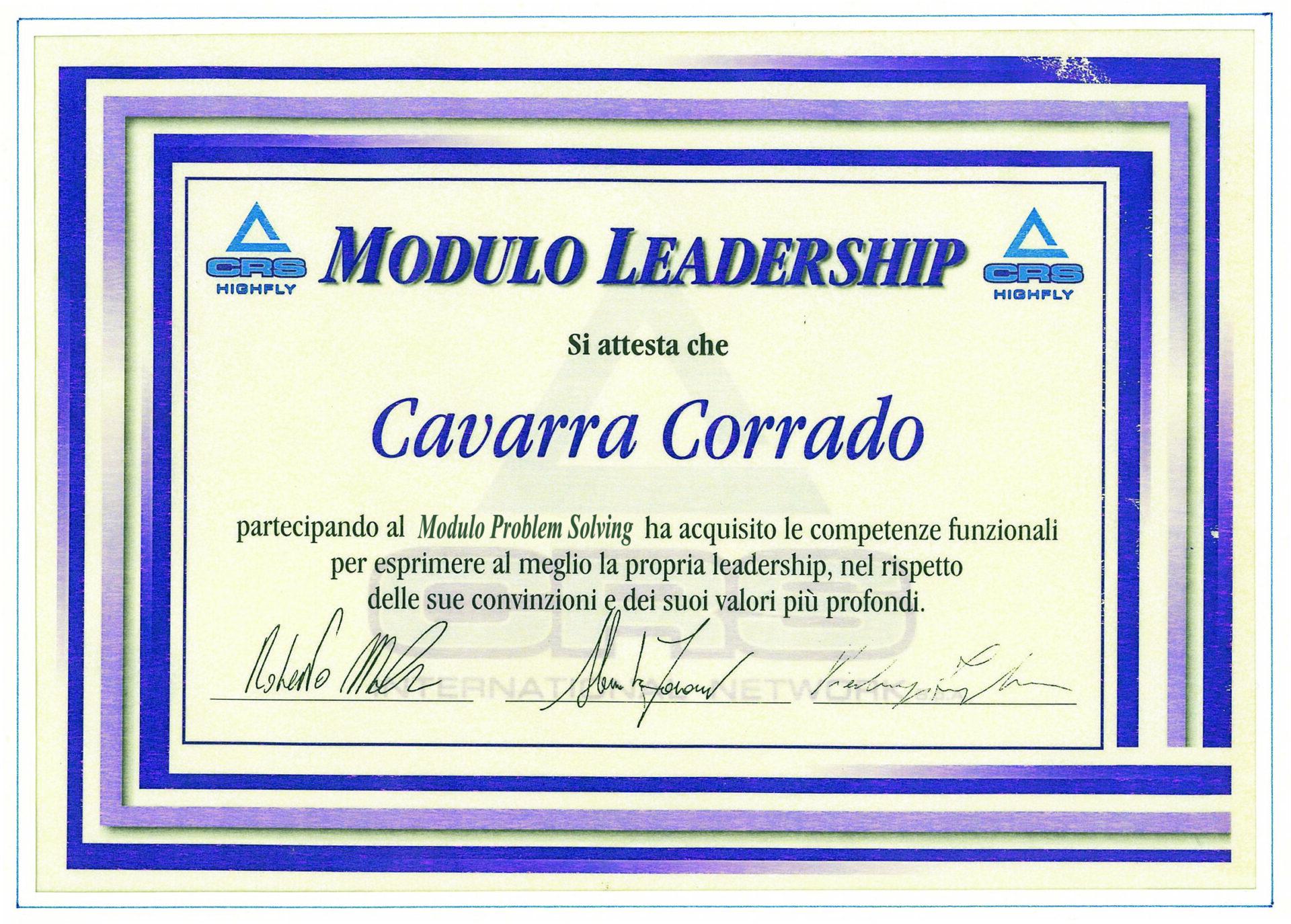 Attestati e riconoscimenti Corrado Cavarra7